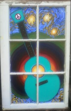 Old window, painted retro.  But where to put it??