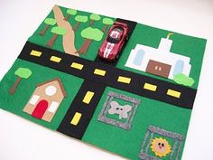 Serving Pink Lemonade: Mini Car Mats--take 2 ( . . . and 3 and 4), with templates