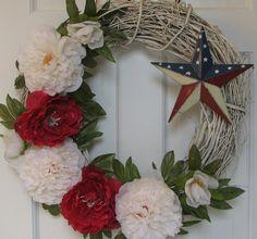 interesting idea- spray paint grape vine wreath