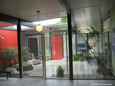Image result for mid century courtyard