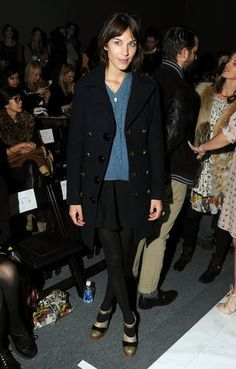 Alexa Chung at NY Fashion Week