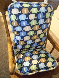 handmade rocking chair cushion - someday I'll do this for the old rocking chair my mama used to rock me in