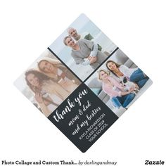 Graduation Photos, Graduation Gifts, Graduation Cap Toppers, Thank You Mom, Square Photos, Artwork Design, Mom And Dad, Floral Design, Photo Gifts