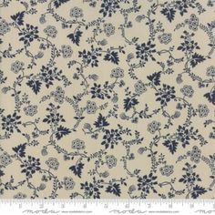 Moda Fabrics Regency Blues 42302 24 Vintage Vines Navy on Taupe By The Yard Patchwork Fabric, Cotton Quilting Fabric, Christopher Wilson, Thing 1, Tans, Fabric Material, Regency, Printed Cotton, Craft Projects