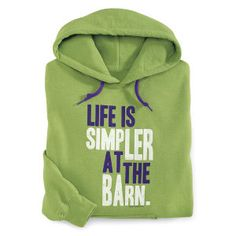 The Simpler Life Hoodie - Horse Themed Gifts, Clothing, Jewelry and Accessories all for Horse Lovers   Back In The Saddle
