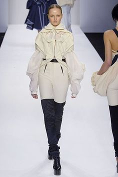 See all the Collection photos from Central Saint Martins MA Autumn/Winter 2006 Ready-To-Wear now on British Vogue Central Saint Martins, Ready To Wear, Saints, Fashion Show, Winter Jackets, Vogue, Fall, Egg Shape, Model