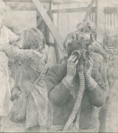 Gas ! 1985.  Graphite pencil on paper. 16 x 14 cm.  HYPERREALISM / FIGURATIVE COMPOSITIONS  #children #hyperrealism #drawing #YuriYudaev