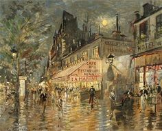 "Constantin Alexeevich Korovin ~ ""View of Paris by Night"""