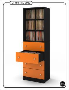 Mueble Para Discos De 12 Capacidad De 550 Discos