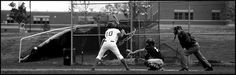Went to my old high school and saw a baseball game going on. I tried getting this shot multiple times as you can see the base ball is in this picture. I only wish it was a lefty batter.     http://advertiseyourbizonline Social Media Marketing Manager - Graphics and more.