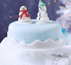 Round christmas cake designs 04