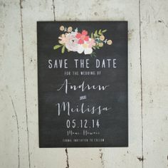 Rustic Wedding Save the Date the Jenna by starboardpress