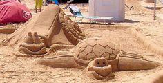 Sand sculpture, Barcelona
