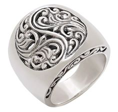 Samuel B. Sterling Silver Flower Design Ring
