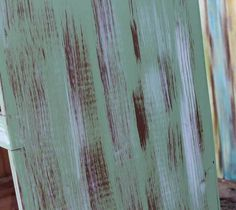 Green Dresser Info - How to paint, distress, and antique furniture