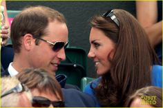 These two are in LOVE!  Prince William & Duchess Kate Cheer on Britain's Andy Murray!