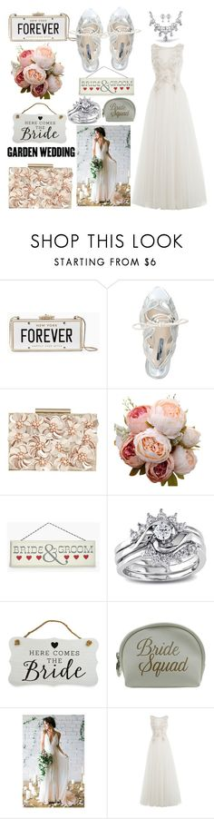 """""""here comes the 👰 bride"""" by mia-p-o-v ❤ liked on Polyvore featuring Kate Spade, Sophia Webster, Phase Eight, Boohoo, Miadora, New View, Danielle Creations and Alberta Ferretti"""