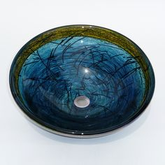 Make your bathroom stand out with a hand-blown glass sink. Light it from underneath and make a spectacular statement. Bathroom Stand, Bathroom Rules, Bathroom Sinks, Small Bathroom, Bathroom Ideas, Bathrooms, Glass Bowl Sink, Vessel Sink, Suspended Animation