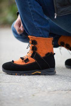 Обувь ручной работы. Мужские валяные ботинки  Мой ЭККО . Снежана Костина  (FELT 1c49ba87ce628
