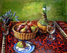 Margaret Olley, 'Kelim and Still Life' via Australia Art Auction Records
