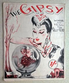 THE GYPSY - 1945 VINTAGE SHEET MUSIC for Piano Accordion, Guitar and Banjo Sheet Music Art, Song Sheet, Vintage Sheet Music, Banjo, Guitar, Piano Accordion, Cartomancy, Spiritual Teachers, Fortune Telling