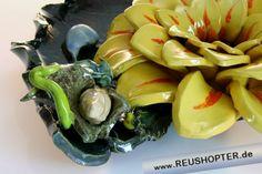 Keramikschale, Keramik, Blumenschale, Keramikblumen, Tischkeramik, Ton, Handarbeit, Geschenke aus Keramik, Geschenke aus Ton