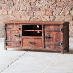 Rustica 2 Door 1 Drawer Reclaimed Wood TV Stand -