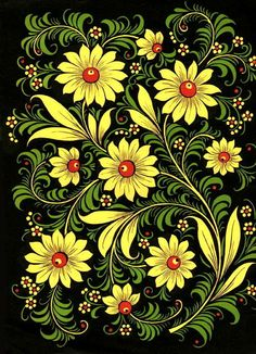 New russian folk art painting russia 42 ideas Tole Painting, Fabric Painting, Painting & Drawing, Art Floral, Art Populaire Russe, Folklore Russe, Russian Folk Art, Folk Embroidery, Embroidery Patterns