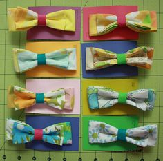 super cute vintage sheet bows