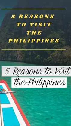 5 reasons to travel the Philippines travel Philippines best destinations to travel Philippines Travel, Tropical Paradise, Amazing Destinations, Travel Guides, Places To Travel, Boat, Country, Dinghy, Rural Area
