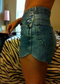 cut them like this. cute way to change up cut ... (Diy Clothes Shorts)
