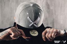 DP Snapbacks : Barber and Butcher Snapback in grey/black Cool Headed, Textiles, Barber Chair, Snap Backs, Snapback Cap, Headgear, Custom Logos, Barber Shop, Caps Hats