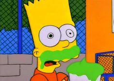 the simpsons simpsons bart simpson bart toon slurpee brain freeze brainfreeze Homer Simpson, Lisa Simpson, Tim Burton, Catwoman, Mundo Meme, Simpson Tumblr, Los Simsons, Pulp Fiction, Phineas Et Ferb
