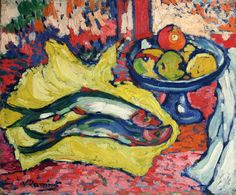 Born this day in Maurice de Vlaminck (French, One of the principal Fauves, along with Matisse and Derain. Henri Matisse, Andre Derain, Raoul Dufy, Eduardo Vuillard, Fauvism Art, Maurice De Vlaminck, Great Works Of Art, Georges Braque, Still Life