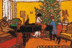 Christmas, 1910 -Jozsef Rippl-Ronai - by style - Art Nouveau (Modern) Christmas Artwork, Christmas Shows, Merry Christmas, Christmas Christmas, Xmas, Canvas Online, Art Database, Oil Painting Reproductions, Pablo Picasso