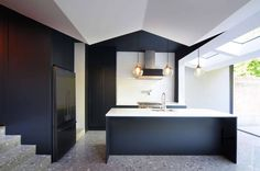 Bureau de Change Architects gave this north London house extension a pleated ceiling London House, House Extensions, Terrazzo, Kitchen Interior, Bedroom Decor, Bedroom Furniture, Furniture Ideas, Bedroom Ideas, New Homes