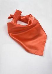 Damentuch Kunstfaser in orangerot günstig kaufen