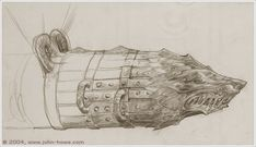 Grond by John Howe (concept for The LotR movie)