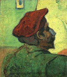 Vincent van Gogh: Paul Gauguin--Man in a Red Beret.  Oil on jute.  Arles: December, 1888.  Amsterdam: Van Gogh Museum.