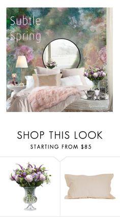 """A Subtle Spring"" by eyesondesign ❤ liked on Polyvore featuring interior, interiors, interior design, home, home decor, interior decorating, Holmegaard, Andrea & Joen, TastemastersDesignGroup and eyesondesigninteriors"