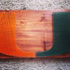 String Art Sports Logo Miami Hurricanes *FREE SHIPPING* by ThingsStringed on Etsy