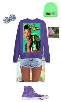 """""""The Fresh Prince of Bel Air"""" by dobbyatemysocks ❤ liked on Polyvore featuring Retrò, Converse and Reason"""