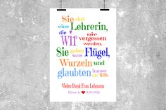 """Originaldruck - Kunstdruck  """"UNSERE LEHRERIN"""" bunt - ein Designerstück von Cleoni bei DaWanda"""