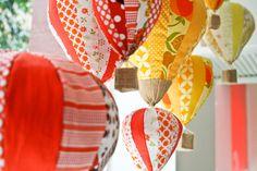 Hanging hot air balloons