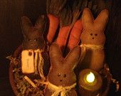 Primitive Bunny and Carrot Bowl Fillers