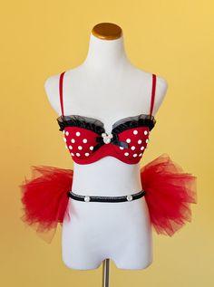Minnie Mouse inspired bra top & tutu