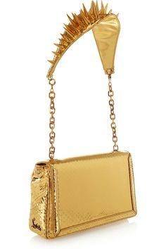 Christian Louboutin Artemis Spiked Python Shoulder Bag
