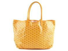 BAG,  GOYARD,  yellow canvas, yellow leather, 33x26x14cm, inner-pochette, dustbag.