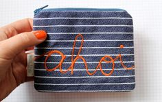Ahoi embroidery