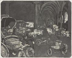 Hans Körnig. im Verkehrsmuseum. Radierung, Aquatinta auf Kupfer, 1959. Das Verkehrsmuseum im Johanneum am Neumarkt in Dresden. © Repro: Museum Körnigreich